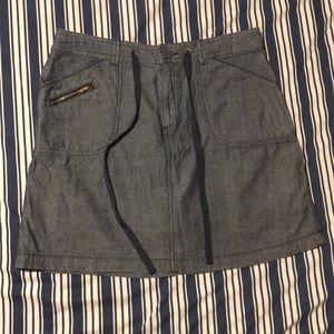 Chambray Cotton Skort (skirt/short)